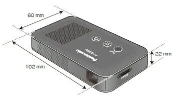 パナソニック名刺サイズ小型ビューアープロジェクターPJ-SJ25U(Panasonic/プレゼンテーション/デュアルディスプレイ/USB給電/会議/ポケットサイズ)