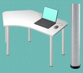 Garage パソコンデスク D2 D2-B-SV 白/ホワイト (ガラージ/ガレージ/オフィス家具/SOHO/ソーホー/事務所/シンプル/通販机/ライティング/PC/ワーク/事務/学習/作業/デスク):ナガサワ文具センター