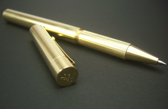 NAGASAWAナガサワオリジナルトレド真鍮キャップ式ボールペン(ブラス/三菱ジェットストリーム/パイロットフリクション/ブラスボールペン)