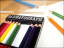 【人気!おすすめ!】三菱鉛筆 紙巻き油性色鉛筆 油性ダーマトグラフ12色【10P10Jan15】