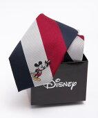 Disney ミッキーマウス ストライプネクタイ:ワイン
