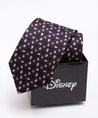 Disney ミッキーマウス マイクロパターンネクタイ:ネイビー