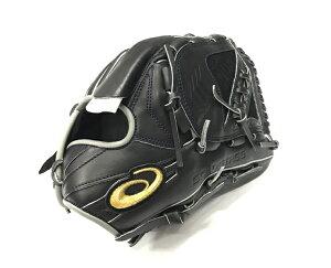 アシックス 軟式グローブ 野球 ジュニア 少年野球 グローブ ピッチャー 投手 大谷翔平モデル  右投げ 3124A185 ブラック×グレー 限定 天然皮革 サイズ大