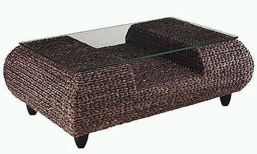 (アジアン) 【relatles】 : ウォーターヒヤシンス (brown) ガラステーブル ナチュラルリビング リビングテーブル (和風) ブラウン:直径800 コーヒー ブラウン
