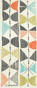 さまざまな柔らかい点と線で構成された、見る人によって何にでも捉えることができる抽象的な蝶...
