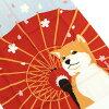 【ゆうパケット・クリックポストOK】濱文様捺染絵手拭い「舞桜と豆柴」【RCP】
