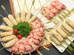 生串タイプの純系名古屋コーチン正肉(モモ・ムネ)15本とつくね串15本、そして職人が厳選した...