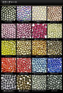 【メール便OK】スワロフスキーと比べてください!高品質ガラスラインストーン『NANASTONE』全25色SS6〜SS16