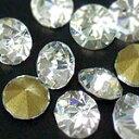 【メール便可】高級ガラス製Vカットストーン クリスタル SS24(約5.3ミリ) 10粒