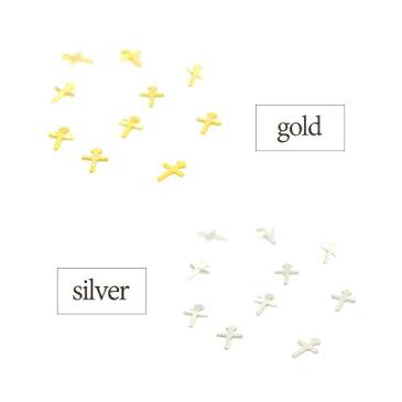 ミニクロスゴールドネイルアートパーツ [ゴールド・シルバー] 約30枚入り クロス 十字架 ミニパーツ ネイルアート ジェルネイル