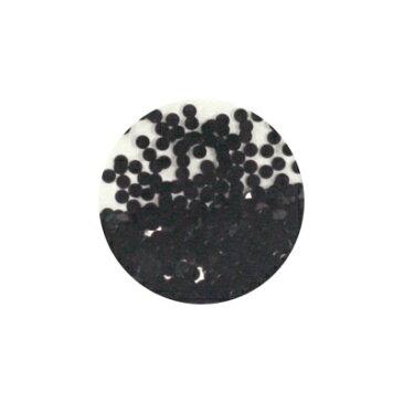 ネイルアート ラメ ホログラム グリッター キラキラ ブラック 丸2mm
