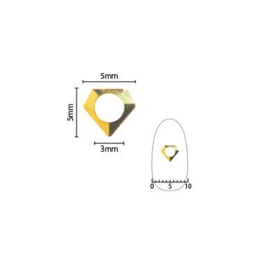 ネイルパーツ スタッズ ピアドラ ダイヤモンド中抜き SS9用 50P ゴールド