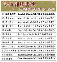 名入れ日本語書体一覧