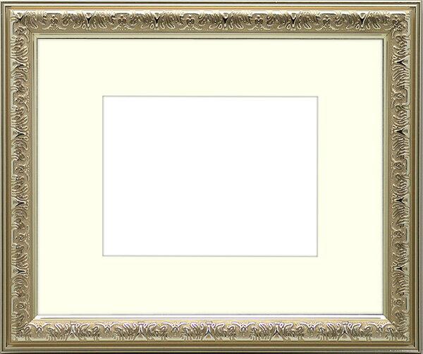 写真用額縁 シャイン/シルバー A2(594×420mm)専用☆前面アクリル仕様☆マット付き【絵画/壁掛け/インテリア/玄関/アートフレーム】