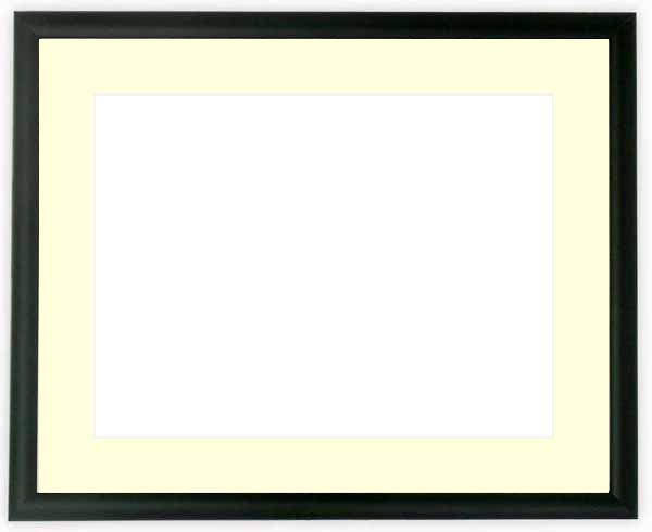 【キズあり品】写真用額縁 J型/黒 ハガキ(152×102mm)専用 ☆前面ガラス仕様☆マット付き【写真額縁】【KG】【絵画/壁掛け/インテリア/玄関/アートフレーム】