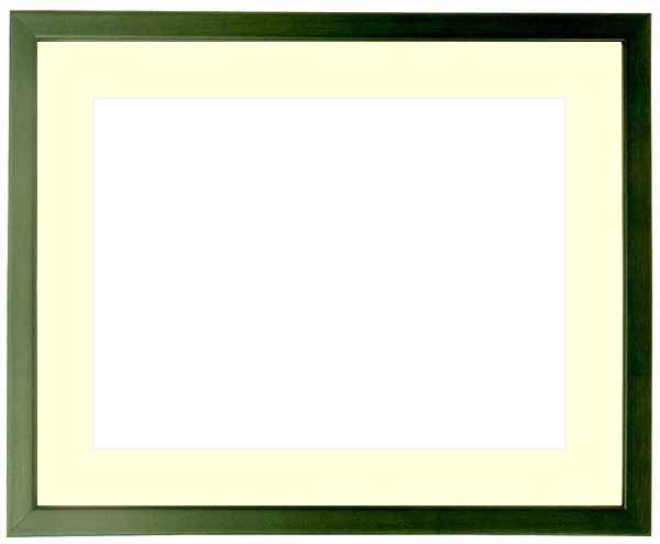 写真用額縁 歩-7/グリーン 写真ワイド六つ切(305×203mm)専用 ☆前面ガラス仕様☆マット付き【写真額縁】【6Pワイド】【絵画/壁掛け/インテリア/玄関/アートフレーム】