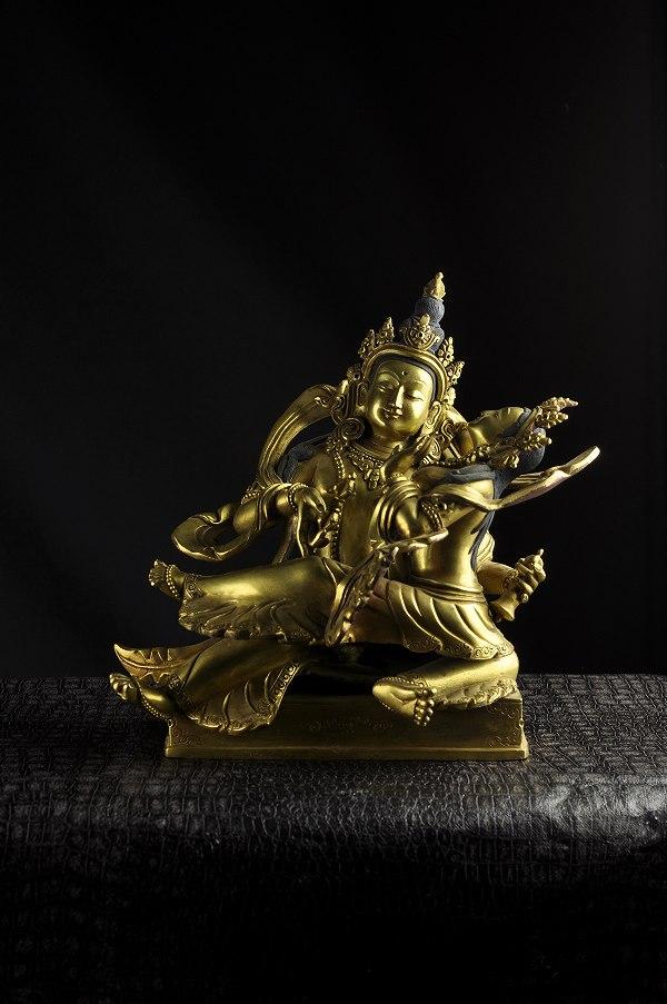 普賢歓喜仏 銅造鍍金 彫金仕上げ 一点もの