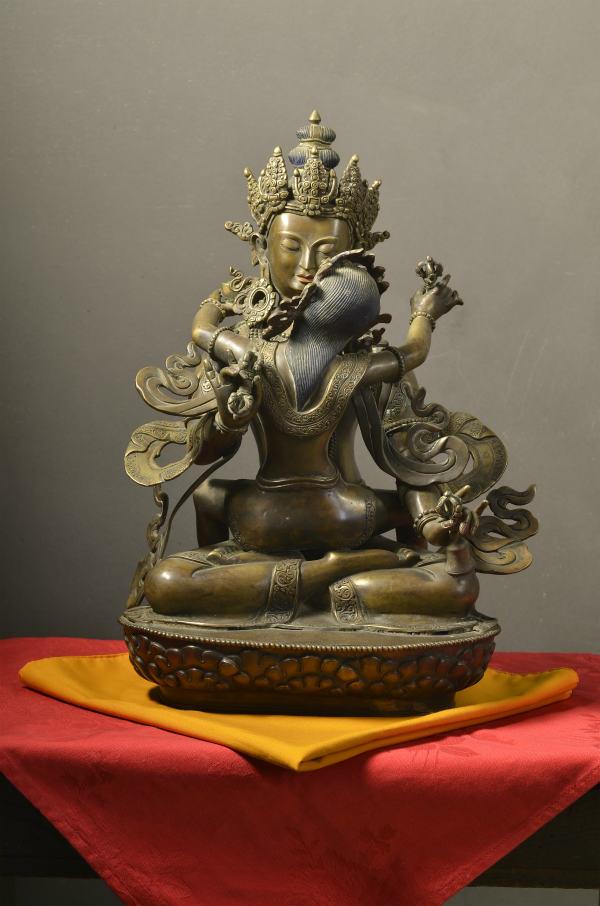 普賢歓喜仏 銅造彫金仕上げ 一点もの