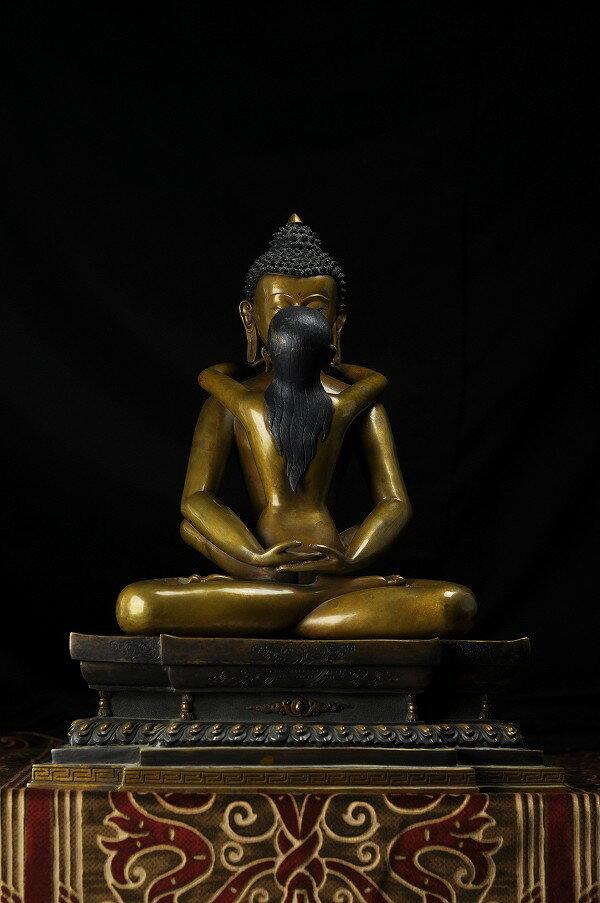 歓喜仏(ヤブユム)銅造 彫金仕上げ