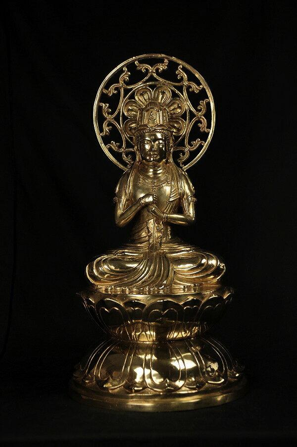 大日如来 黄銅製光輝仕様:仏像仏画チベット美術卸の天竺堂