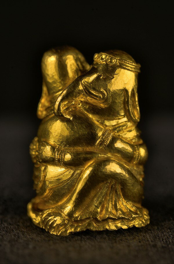 歓喜聖天 純金製彫金仕上げ