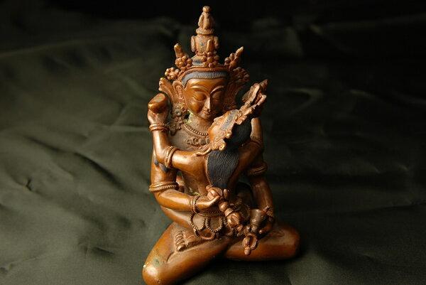 金剛薩埵 (歓喜仏)銅造彫金仕上げ 一点もの