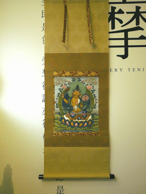 仏画掛け軸 文殊菩薩 肉筆画 一点もの:仏像仏画チベット美術卸の天竺堂