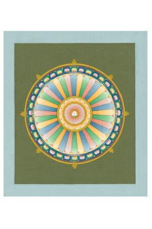 肉筆仏画 法輪ヤントラb:仏像仏画チベット美術卸の天竺堂