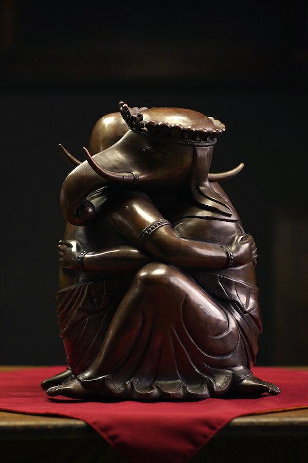 聖天(歓喜天)銅造彫金仕上げ