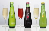 アップルタイザー275ml瓶24本入〔アップルサイダー果汁100%炭酸飲料〕
