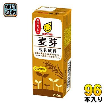 マルサン 豆乳飲料 麦芽 200ml 紙パック 24本入×4 まとめ買い〔麦芽豆乳〕
