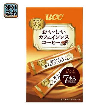 UCC おいしいカフェインレスコーヒー スティック 7杯×24個入〔コーヒー インスタント カフェインレス スティック〕
