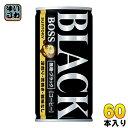 サントリー BOSS ボス 無糖ブラック 185g 缶 60...