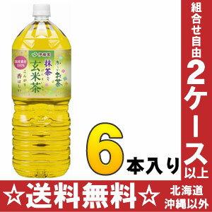 Itoen and-not tea green tea with brown rice tea 2 L pet 6 pieces [you-not tea]