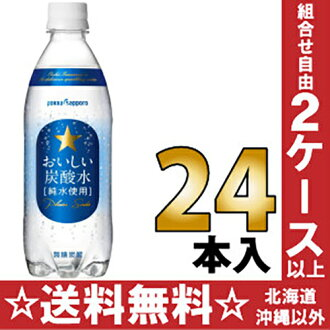 Sapporo delicious sparkling water 500 ml pet 24 pieces [pure water use allocation of soda water.