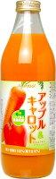 JAアオレンアップル&キャロット1L瓶6本入〔リンゴアップル野菜ジュース【楽ギフ_のし】〕