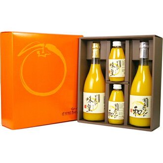 Of Orchard Park country Arida Orange flavor Huang & k. gift set 4 PCs [straight orange juice fruit juices 100%]