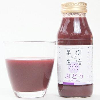 果樹ある生活 ぶどう100%ジュース 180ml×6本  なかひら農場TEL:0265363206            ぶどう ぶどうジュース グレープ 果汁100% 100%ジュース 製造直販 なかひら農場 果樹ある生活 送料無料
