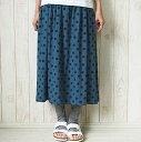 【ゆうメール可】prit(プリット)30/1TOP杢天竺水玉プリントギャザースカート