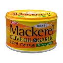 SSK マッカレル オリーブオイル & ガーリック 140g 缶 清水食品 さば オリーブオイル漬け サバ缶 鯖 サバ 缶詰 国産 国内製造 エクストラヴァージンオリーブオイル にんにく 静岡