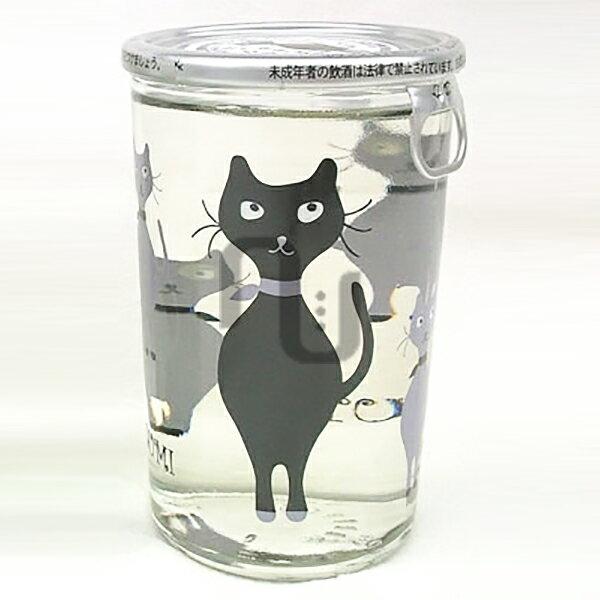 にゃんかっぷ志太泉180ml志太泉酒造純米吟醸酒静岡猫ラベルネコねこ日本酒ワンカップ酒にゃんカップ黒猫