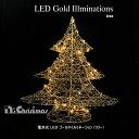 イルミネーション ツリー クリスマスツリー 電飾 led 電池式LEDゴールドイルミネーション ツリ ...