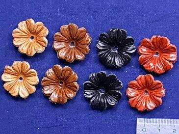 皮フラワー(2cm・2個入)