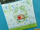 ペーパーナプキン(デコペーパー)水色×キミドリ