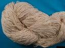 綿手編み糸生成り