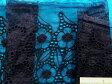 オーガンジ刺繍レース生地黒