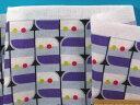 綿ダブルガーゼ生地紫×グレー