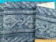 綿プリント生地(やや厚)ブルー系