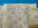接触冷感綿ダブルガーゼ生地(キシリクール加工)バンダナ柄薄アイボリー×グレー(110cm幅 1m)