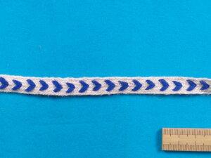 麻テープ(ヘリンボン柄)ブルー(0.9cm幅 5m巻)
